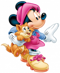 Minnie Mouse with Kitten PNG Clip-Art Image | Gallery Yopriceville ...