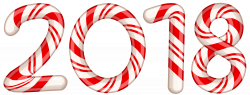 2018 Candy Cane Red PNG Clip Art Image | Gallery Yopriceville ...