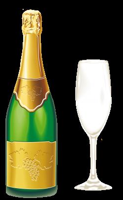 Champagne with Glass PNG Clipart | Клипарты Новогодние | Pinterest ...