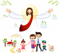 Bible Christianity Clip art - Vector Jesus with children 1950*1756 ...