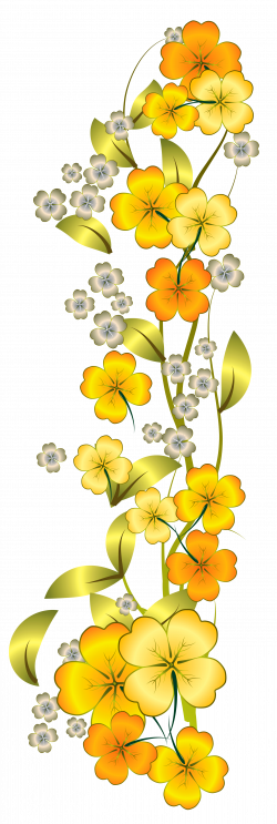 Yellow Flower Decor PNG Clipart | Flowers | Pinterest | Flower ...