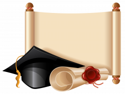 Diploma and Graduation Cap PNG Clipart Picture | Scrolly | Pinterest ...