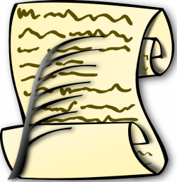 Scroll And Feather Clip Art at Clker.com - vector clip art online ...