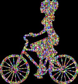 Clipart - Chromatic Bejeweled Girl On Bike