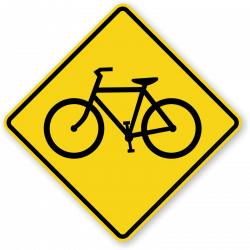 Bicycle Crossing Signs | Fluorescent Diamond Grade