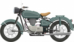 Clipart - Flat Shaded Classic Motorcycle
