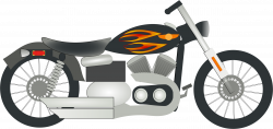 Clipart - Harley Motorcycle
