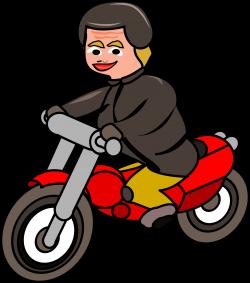 Clipart - Woman on motorbike