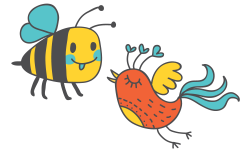 Bees clipart bird - Pencil and in color bees clipart bird