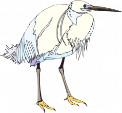 White And Blue Heron Clip Art at Clker.com - vector clip art online ...