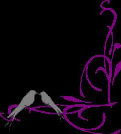 Floral Swirly Bird Bottom Corner Clip Art at Clker.com - vector clip ...
