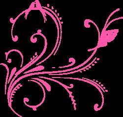 Pink Swirl Birds (butterfly Princess) Clip Art at Clker.com - vector ...