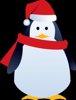 Clipart - christmas penguin