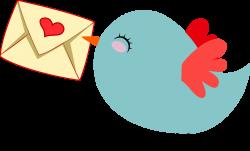 Cute Mail Carrier Bird by GDJ   นกน้อย   Pinterest   Bird, Clip art ...