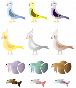 Simple Birds And Fishes by Viscious-Speed on DeviantArt
