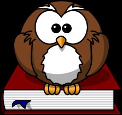 Cartoon Owl Sitting On A Book | Bird | Pinterest | Cartoon owls ...
