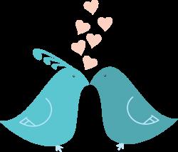 Clipart - Flat Shaded Love Birds
