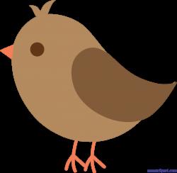 Bird Brown Cute Clip Art - Sweet Clip Art