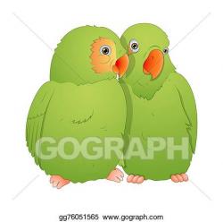 EPS Illustration - Parrot bird pair. Vector Clipart ...