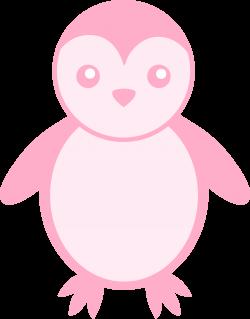 Pink Baby Penguin - Free Clip Art
