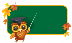 Owl with School Board PNG Clipart Image   Hinh moi   Pinterest ...