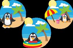 Summer Penguins by Cindi Gilmour Designs | Design Bundles