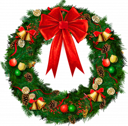 Transparent Christmas Wreath with Red Bow PNG Picture | Christmas 2 ...