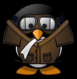 Clipart - Pilot Penguin