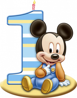 Personalised A4 1st Birthday Baby Mickey Mouse, Edible Icing Sheet ...