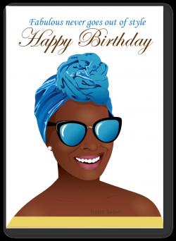 Birthday woman - Beautiful black woman with head wrap card ...