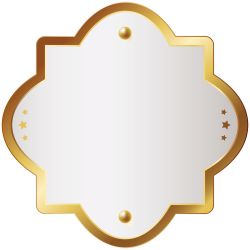 Decorative Badge Gold Clip Art Transparent Image | Gallery ...