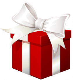 Red Gift Box with White Bow Transparent PNG Image   ClipArt ...