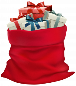 Christmas Sack with Gifts PNG Clip Art Image | Gallery Yopriceville ...