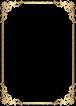 Gold Border Frame Transparent Clip Art Image | Gallery Yopriceville ...