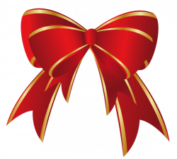 Christmas Red Gold Bow PNG Clipart | Decorations | Pinterest | Red ...