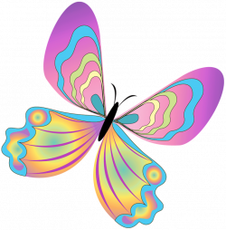 Painted Butterfly PNG Clipart | Gallery Yopriceville - High-Quality ...