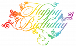Colorful Happy Birthday PNG Clipart Picture   Birthday Images ...