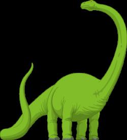 Long Neck Brachiosaurus Dinosaur | Green Brachiosaurus clip art ...