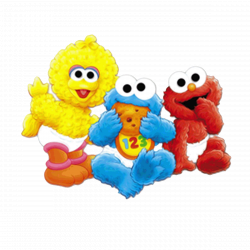 cookie monster as a baby pictures | Baby Sesame Street Invitations ...