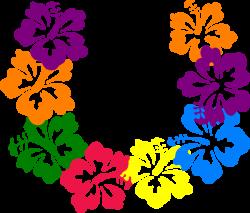 Hawaiian Flower Clip Art   Hibiscus Lei clip art - vector clip art ...