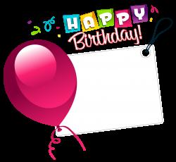 Happy Birthday Transparent Sticker with Pink Balloon | Gallery ...