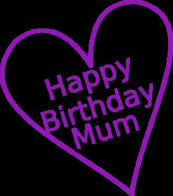 Happy Birthday Mum Clip Art at Clker.com - vector clip art online ...