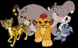 Kion, Bunga, Fuli and Beshte png clip art files | the lion gaurd ...