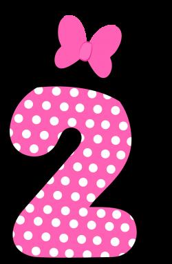 Números a lo Minnie en Rosa. | 2 birthday | Pinterest | Minnie mouse ...