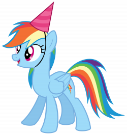 Rainbow Dash With A Party Hat Vector By Missbeigepony On Deviantart ...