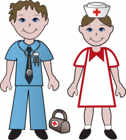Free Clip Art Of Doctors and Nurses: Doctor and Nurse | Projects to ...