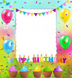 Happy Birthday PNG Frame | Gallery Yopriceville - High-Quality ...