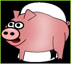 Cute Pig Clip Art - Alternative Clipart Design •