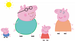 Peppa Pig Family Logo Transparent PNG Clip Art Image | Gallery ...