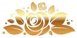 Gold Rose Decor PNG Clipart Picture | Gallery Yopriceville - High ...